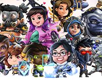 "Overwatch ""chibi stickers project"" enjoy it!"