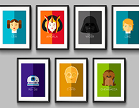 STAR WARS Flat Illustrations