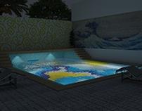 Glass Mosaic Tile Pool