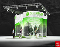 """Exhibition stand for""""Sberbank"""" TREE"""