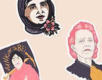 Inspiring Women Sticker Pack