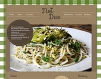 Trattoria noi due   web design