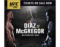 UFC 202 Key Art and Ad Concept
