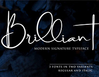 Brilliant Signature Typeface (Free Download)