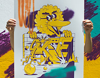 """Sesame Street"" Silkscreen & Spray"