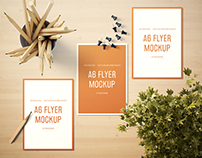 A6 Portrait Flyer Mockup