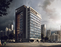 Al Barsha Hotel Visualization - Dubai