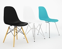 VITRA - Eames DSW,DSR,DSX Side chairs