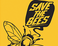 Save The Bees - Illustration