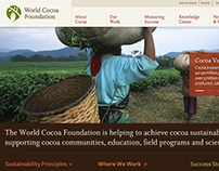 World Cocoa Foundation Website Design
