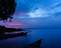 Weija Lake after Sunset