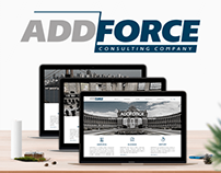 Website development for ADDFORCE (consulting company)