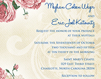 Weger-Katowitz Wedding Invitations