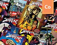 Superhero series covers | Fearless Starling & friends