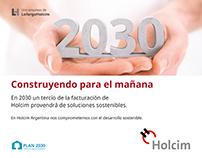 Publicidad Plan 2030 - Holcim Argentina