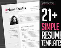 Resume Templates - Professional & Clean