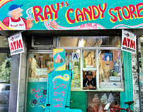 Store Front Painting - Ray's Candy Store, NYC