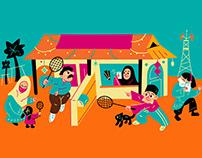UMobile Raya | Festive Illustration