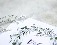 Eucalyptus and Slagbos - Wedding Thank You Cards