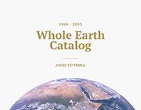 The whole earth catalog — App design