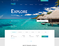Travel agency. Web design
