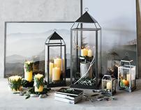 Pottery Barn / Malta Lantern Set .1 3d model