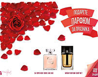 Parfumi Shop Valentines Day banner
