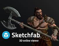 3D viewer online (sketchfab)