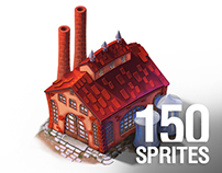 150+ Isometric Game Sprites for Steampower 1830