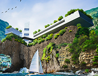 Resort on the cliff