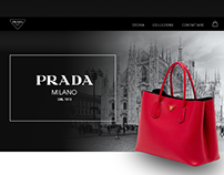 Web design for Prada online store