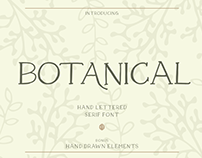 BOTANICAL - FREE FONT + BONUS ILLUSTRATIONS