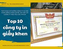 Top cong ty in giay khen, bang khen TPHCM