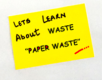 Stop motion video on paper waste