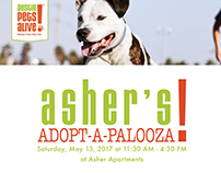 Austin Pets Alive! Flyer for Asher Apartments