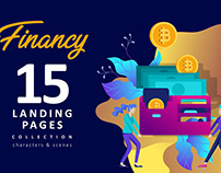 Finance & Cryptocurrency. Landing Pages.