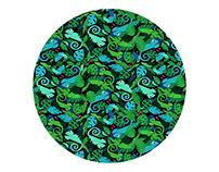 Fabric Pattern Chameleons