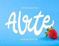 Alrte Script Font