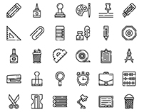 Stationary icons(free download)