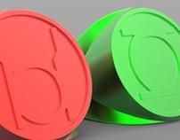 Green & Red Lantern Rings