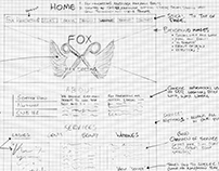 Fox Hairdressing Website - Paper Wireframe