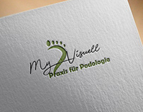 Foot Logo design green modern business Spa