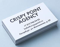 Business Cards for Crispy Point Agency
