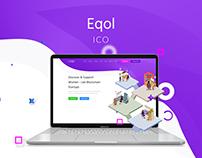 ICO company Eqol landing page