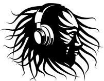 Reggae DJ vector image.