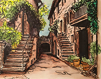 Tuscany Watercolor