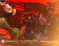 网易游戏《大唐无双》宣传片插画Game illustration