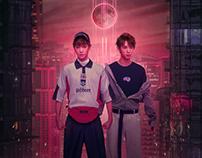 【HUANG MING-HAO X HUANG XIN-CHUN】Asian idol art poster