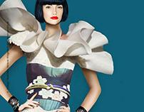 Fashion Illustration / Collage Asia Style