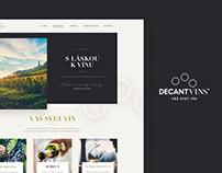 Decantvins / web design